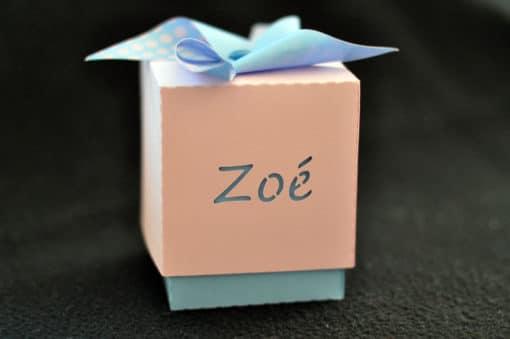 Boîte à bonbons personnalisée Silhouette Portrait Cameo fille