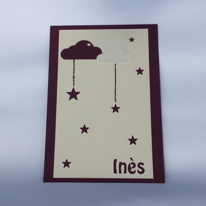 Carte silhouette portrait cameo nuages étoiles fichier sst gratuit