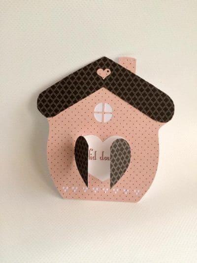Carte de pendaison de crémaillère – Maison / Nid douillet
