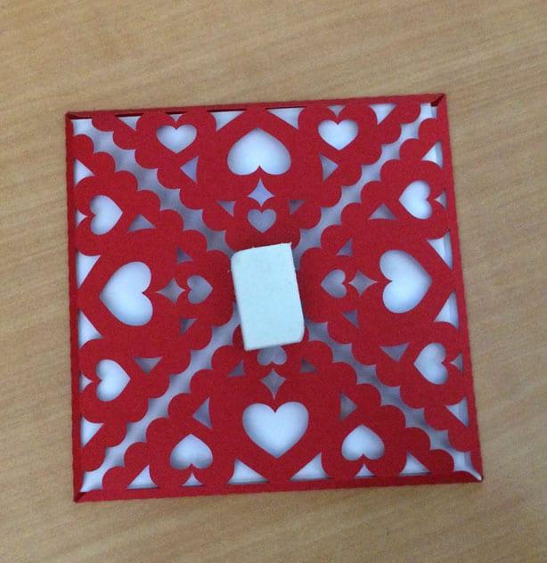 Carte de mariage cœurs et ruban silhouette portrait cameo scrapbooking