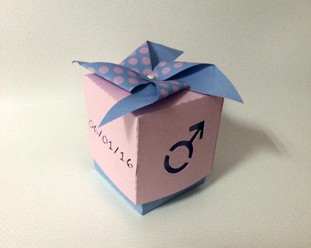 boîte bonbons dragées garçon fille symbole