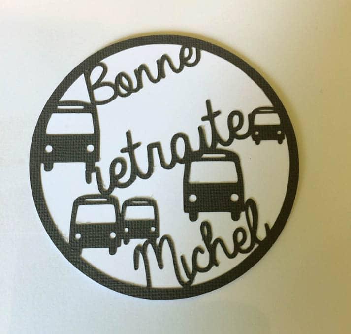 carte bonne retraite michel chauffeur bus car