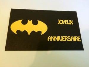 carte anniversaire batman