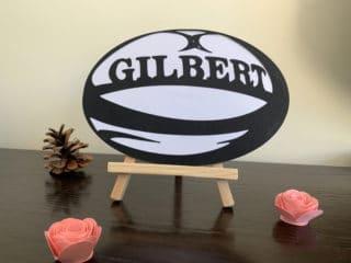Carte d'anniversaire – Ballon de rugby