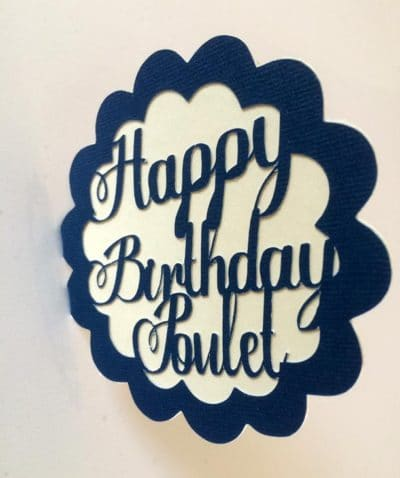Carte d'anniversaire – Happy birthday Poulet
