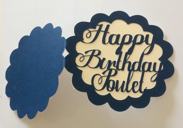 carte joyeux anniversaire happy birthday silhouette caméo portrait studio sst gratuit