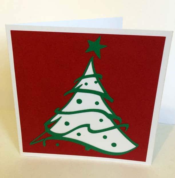 Carte Noël merry christmas card père noël santa claus sapin