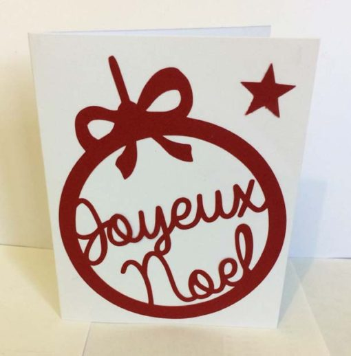 Carte Noël merry christmas boule