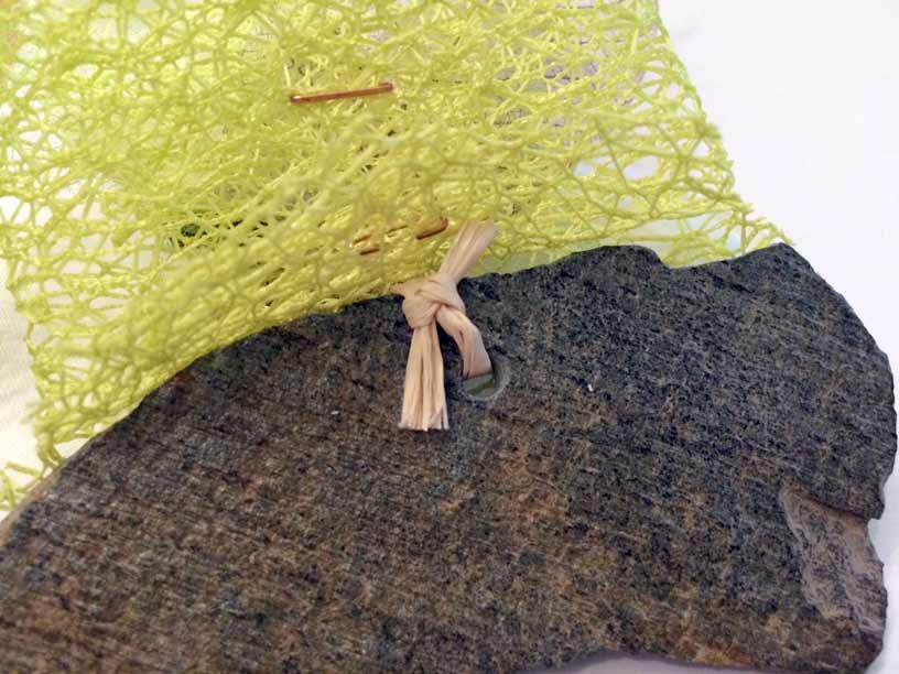 rond serviette marque place abaca rafia ardoise orchidée fabrication mariage