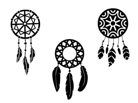 Attrape Reves Dreamcatchers Fichiers Vectoriels Gratuits Svg Sst