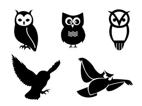 Hibou chouette fichiers gratuits svg silhouette studio png - Image de chouette gratuite ...