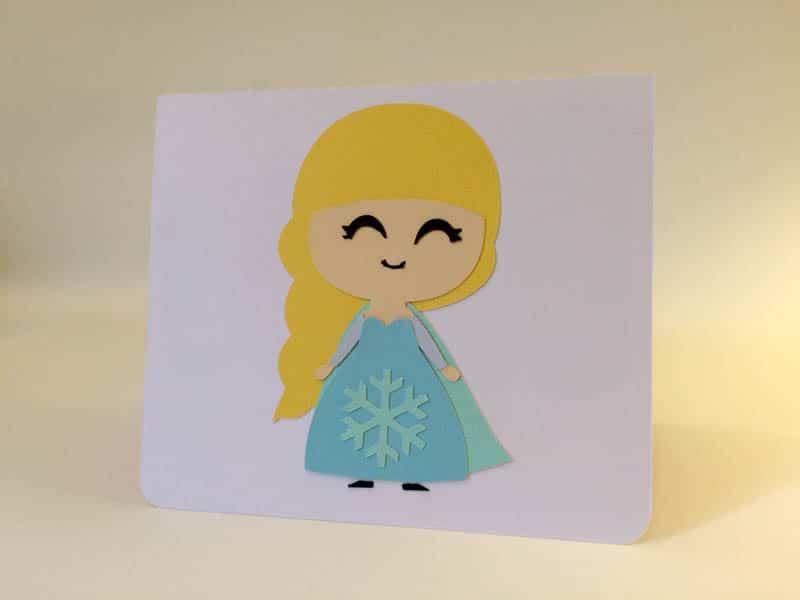 carte reine des neige anna elsa frozen silhouette caméo portrait studio