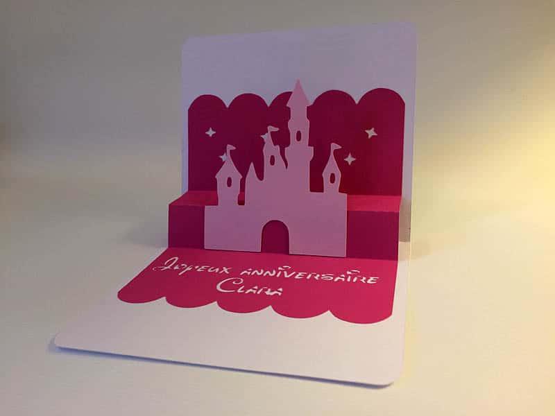 card popup silhouette cameo portrait curio studio castle princess disney frozen anna elsa