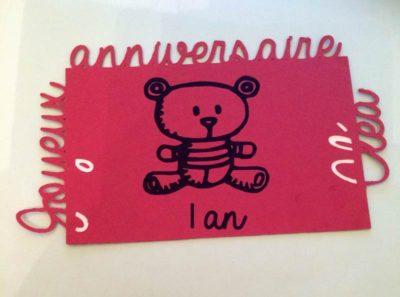 Carte d'anniversaire – Ourson – 1 an Cléa