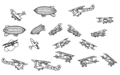 Avions / Ballons dirigeables / Aéronefs