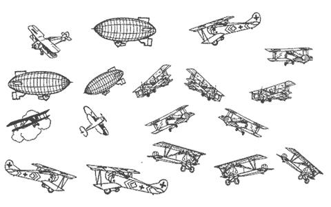 avions ballons dirigeables aéronefs aéronotique planes montgolfières motifs gratuits fichiers silhouette studio caméo portrait svg sst