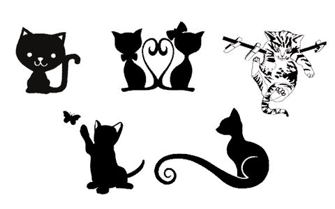 chat chaton cat fichier gratuit vectoriel Silhouette Studio Caméo Portrait free vector file svg
