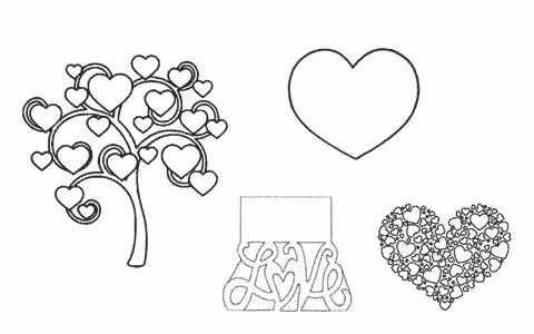 coeurs amour hearts love motifs gratuits fichiers silhouette studio caméo portrait svg sst