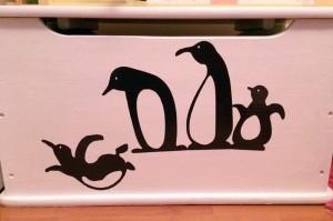 stickers pingouins enfant silhouette caméo portrait studio vinyle adhésif sst