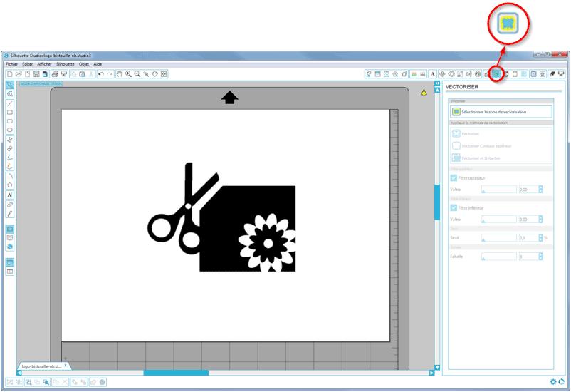 silhouette studio caméo portrait curio fenêtre vectorisation image vectorisée vectoriser