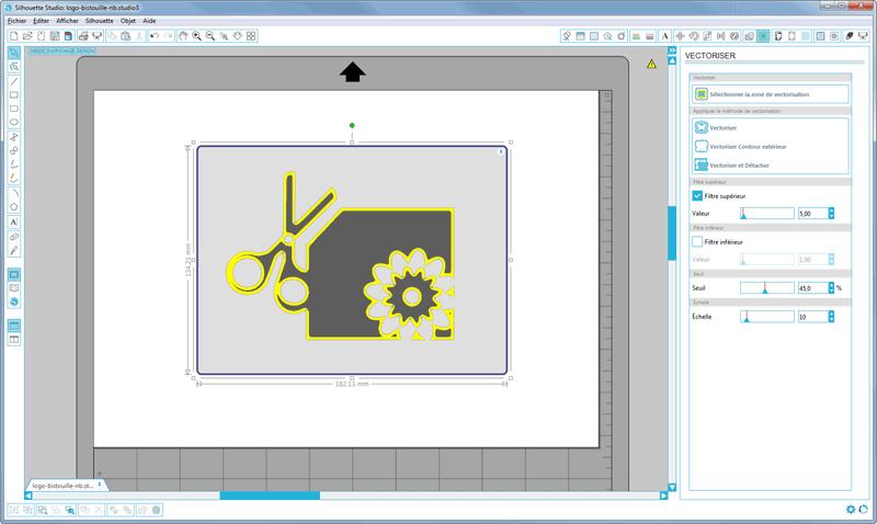 vectorisation silhouette studio caméo portrait curio zone à vectoriser