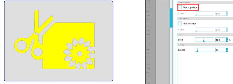 vectorisation image silhouette studio caméo portrait curio filtre supérieur