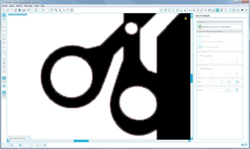 vectorisation image silhouette studio caméo portrait curio contours rouges vectorisés