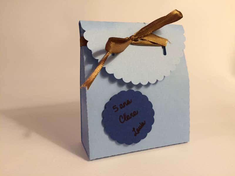 pochette bonbons boite carton anniversaire enfant garçon silhouette caméo portrait studio