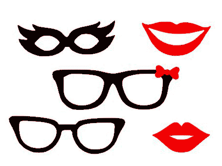masque lunettes bouche lèvres femme motifs gratuits fichiers silhouette studio caméo portrait svg sst