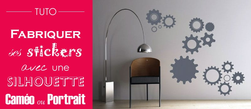 tuto silhouette portrait cam o fabriquer des stickers personnalis s diy. Black Bedroom Furniture Sets. Home Design Ideas