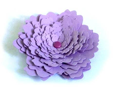 tutoriel fabriquer une fleur 3d relief en papier cam o portrait cricut. Black Bedroom Furniture Sets. Home Design Ideas