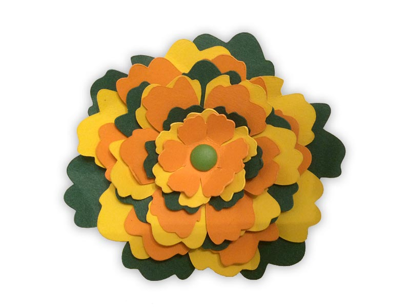 fleur en relief 3d flower papier paper silhouette cameo portrait