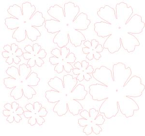 motifs fleurs papier relief 3d paper flowers silhouette studio cameo portrait
