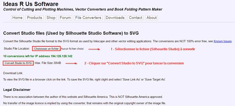 convertisseur fichiers silhouette studio en svg convertir convert vector file