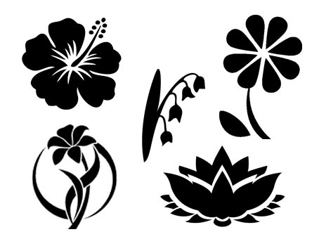 fleur svg studio png eps dxf clipart silhouette cutting file flower