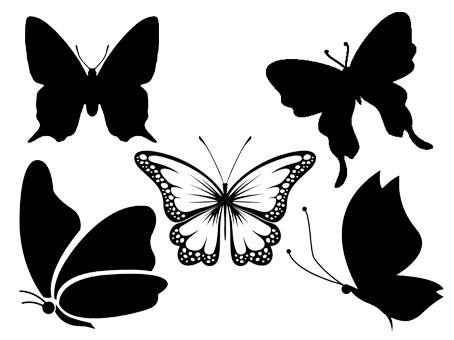 papillon svg studio png eps dxf clipart silhouette cutting file butterfly butterflies