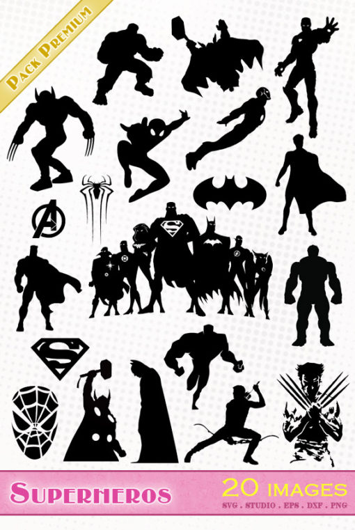 marvel avengers superheros superheroes svg studio png eps dxf clipart silhouette cutting file hulk thor captain america batman superman hawkeye spiderman ironman silueta vengadores