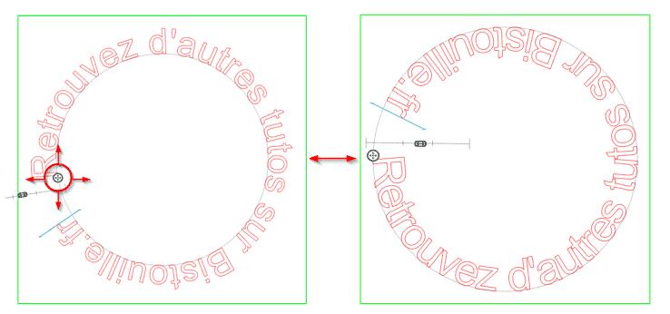 tutoriel tuto silhouette studio écrire texte arrondi cercle