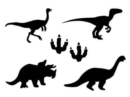 dinosaure Tyrannosaure Brachiosaure Brontosaure Triceratops Ptérodactyle Vélociraptor t-rex svg studio png eps dxf clipart silhouette cutting file