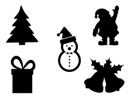 noël christmas navidad svg silhouette studio cameo portrait cricut santa claus nativity sapin décoration houx