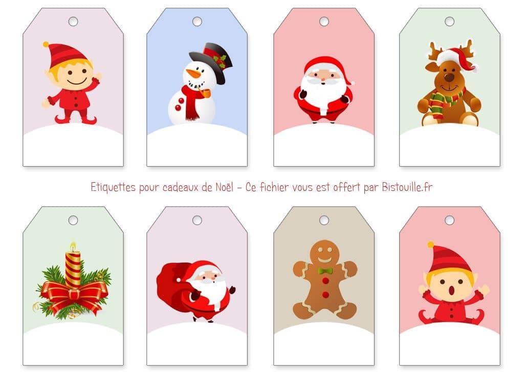 étiquettes Pour Cadeaux De Noël à Imprimer Et à Découper