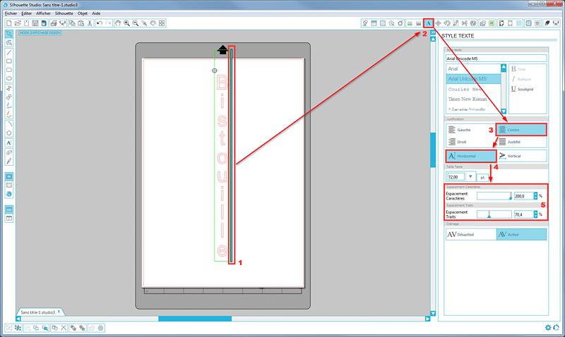 tutoriel écrire texte vertical silhouette studio tuto tutorial vertical text how to sst