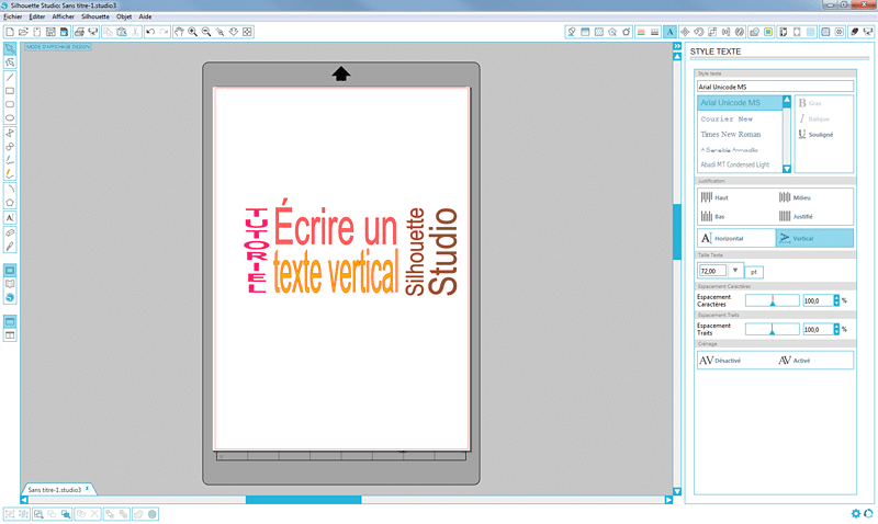 tutoriel écrire texte vertical silhouette studio tuto tutorial vertical text how to sst