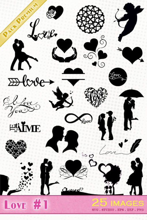 heart love lover couple je t'aime ti amo svg silhouette studio cameo portrait cricut scanncut dxf eps vector file