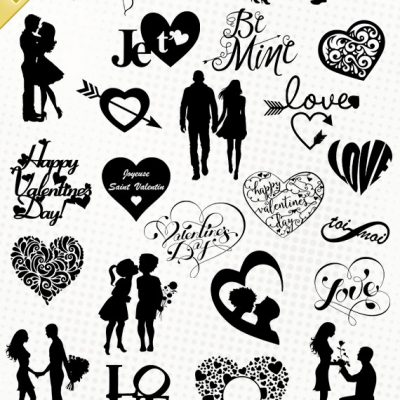 saint valentin valentine's day san valentino svg eps dxf png clipart cutting files vector fichier silhouette
