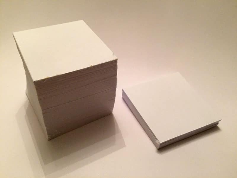 bloc cube papier diy encollé colle Cléopâtre tuto tutoriel
