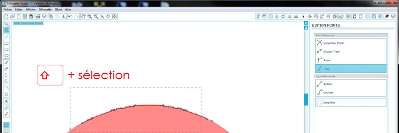 tuto silhouette studio sélectionner plusieurs points dans un tracé vectoriel how to select multiple points tutorial tutoriel