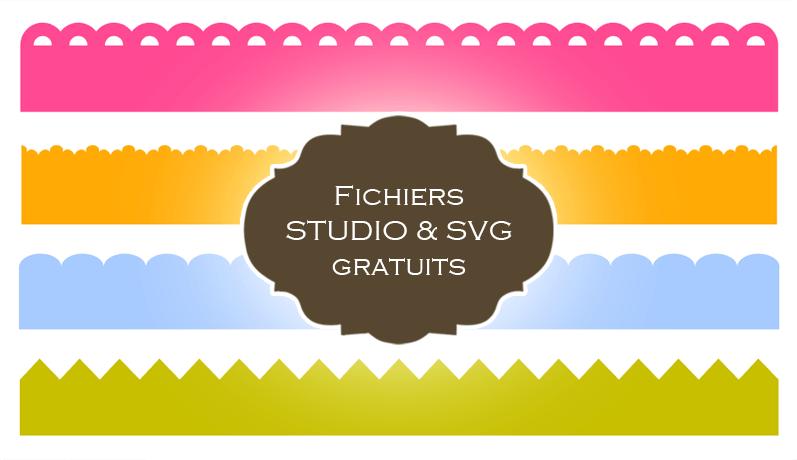 fichiers gratuits silhouette studio svg bordures festonnées free border files