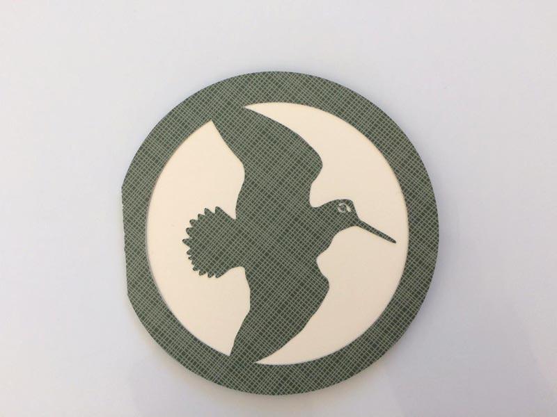 carte anniversaire bécasse chasseur chasse hunter hunting diy card scrapbooking silhouette cameo portrait cricut scanncut
