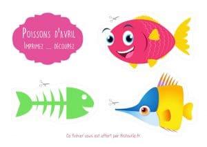 poisson avril imprimer découper print cut fish